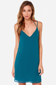 LULUS Exclusive Leisure Island Teal Blue Slip Dress at Lulus.com!