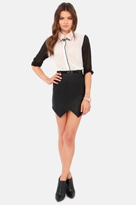Double Vision Black Mini Skirt at Lulus.com!