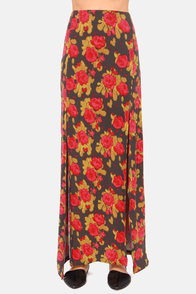 Obey Love Scene Floral Print Maxi Skirt at Lulus.com!