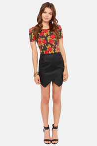 Obey Cloud Nine Fitted Floral Print Top at Lulus.com!