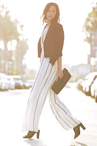 Faithfull the Brand Shutterbabe Ivory Striped Jumpsuit at Lulus.com!