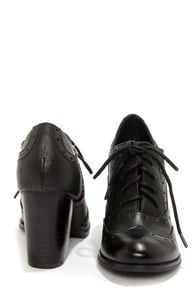 Restricted Traffic Black Lace-Up Spectator Heels at Lulus.com!