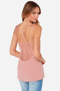 Lace Be Friends Blush Lace Top at Lulus.com!