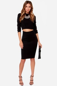 Ace of Waist Black Pencil Skirt at Lulus.com!