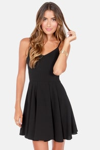 Oh Strap! Black Dress at Lulus.com!