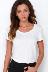 RVCA Label Pippi 2 Ivory Tee at Lulus.com!