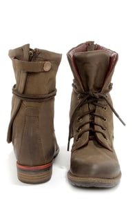 Report Signature Barone Brown Leather Lace-Up Boots at Lulus.com!