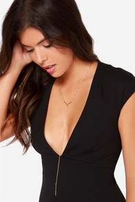 Beat Drop Gold Necklace at Lulus.com!