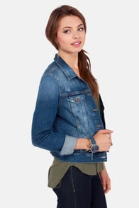 Mavi Samantha Indigo Vintage Distressed Jean Jacket at Lulus.com!