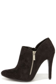My Delicious Skiff Black Pointed Toe Booties at Lulus.com!