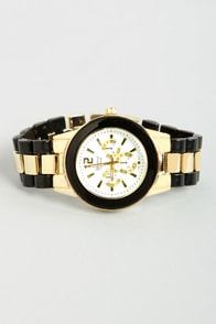 Like Clockwork Gold and Black Watch at Lulus.com!