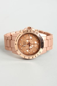 Chrono Jewels Metallic Dusty Rose Watch at Lulus.com!