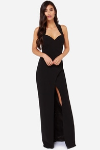 Bariano Katja Black Maxi Dress at Lulus.com!