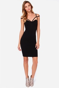 LULUS Exclusive Under A Spell Black Midi Dress at Lulus.com!