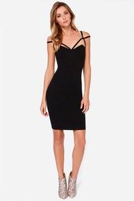 LULUS Exclusive Under A Spell Black Midi Dress at Lulus.com!