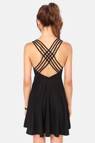 Crisscross-ome Backless Black Dress at Lulus.com!