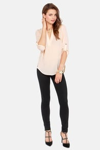 V-sionary Blush Top at Lulus.com!