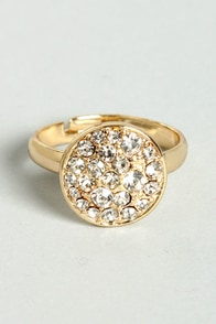 Special Events Gold Rhinestone Ring at Lulus.com!
