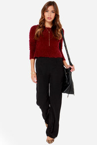 Leg up on Life Black Wide-Leg Pants at Lulus.com!