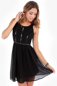 Birds of a Leather Black Dress at Lulus.com!