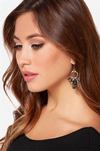 Fire Dancer Grey Rhinestone Earrings at Lulus.com!