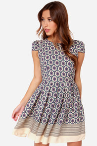 Mumbai and By Beige Floral Print Dress at Lulus.com!
