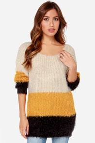 Block Party Color Block Sweater at Lulus.com!