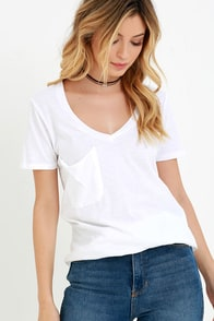 Z Supply Pleasant Surprise Ivory Tee at Lulus.com!