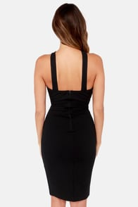 At the Crossroads Black Bodycon Dress at Lulus.com!