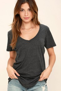 Z Supply Pleasant Surprise Washed Black Tee at Lulus.com!