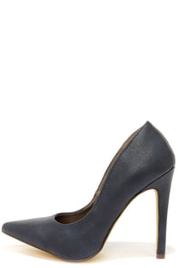 Michael Antonio Lamiss Navy Blue Pointed Pumps at Lulus.com!