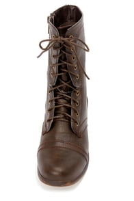 Madden Girl Gamer Brown Pari Lace-Up Combat Boots at Lulus.com!