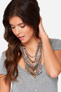 Spikes Camera Action Silver Rhinestone Statement Necklace at Lulus.com!