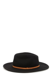 RVCA No Promises Black Fedora Hat at Lulus.com!