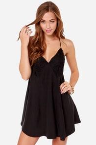 Garage Band Washed Black Slip Dress at Lulus.com!