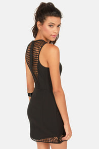 Don't Be Trellis Cutout Black Dress at Lulus.com!