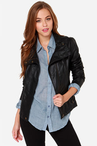 Moto-ly Obsessed Black Vegan Leather Moto Jacket at Lulus.com!
