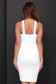 At the Crossroads Ivory Bodycon Dress at Lulus.com!