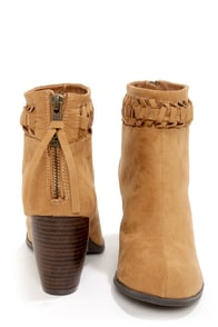 O'Neill Taylor Cognac Suede Knotted Ankle Boots at Lulus.com!