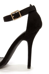 Wild Diva Lounge Adele 01 Black and Gold Single Strap Heels at Lulus.com!