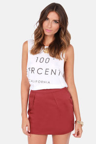 Schoolyard Sweetheart Wine Red Skirt at Lulus.com!