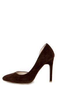 D'Orsay the Word Brown Suede D'Orsay Pumps at Lulus.com!