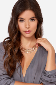Collar of the Wild Gold Necklace at Lulus.com!