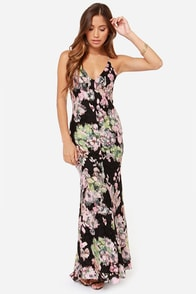 Lady Degas Ga Black Floral Print Dress at Lulus.com!