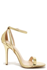 Gold Heels With Straps