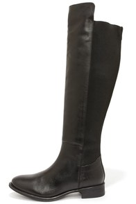 Seychelles Abroad Black Leather Over the Knee Boots at Lulus.com!