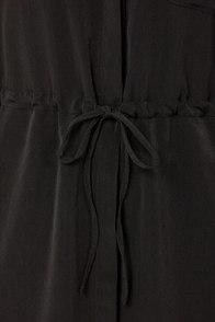 Olive & Oak A Shirt Thing Black Shirt Dress at Lulus.com!