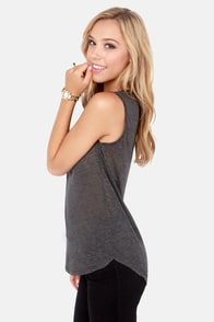 Costa Blanca Move a Muscle Grey Muscle Tee at Lulus.com!