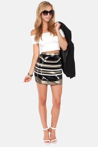 A Twinkle In Time Striped Sequin Skirt at Lulus.com!