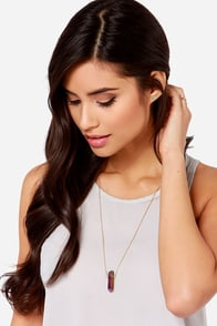 Quartz-erly Report Iridescent Crystal Necklace at Lulus.com!
